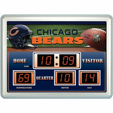 Chicago Bears Time / Date / Temp. Scoreboard