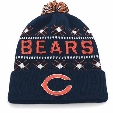 Chicago Bears Tip Off Cuffed Knit Hat