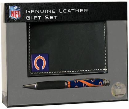 Chicago Bears Tri-Fold Wallet and Pen Set