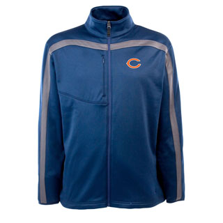 Chicago Bears Mens Viper Full Zip Performance Jacket (Team Color: Navy)