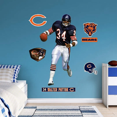 Chicago Bears Walter Payton Fathead Wall Graphic