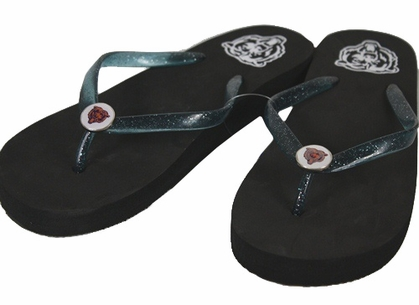 Chicago Bears Wedge Flip Flops