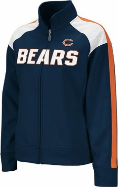 Chicago Bears Women's Reebok Bonded Full Zip Track Jacket