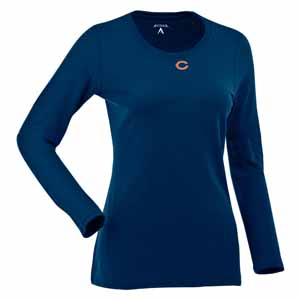 Chicago Bears Womens Relax Long Sleeve Tee (Team Color: Navy) - Small