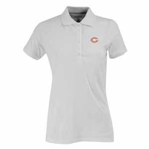 Chicago Bears Womens Spark Polo (Color: White) - Large