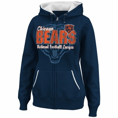 Chicago Bears Womens TD II Marled Fleece Hooded Sweatshirt