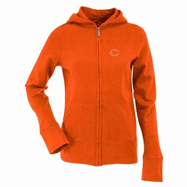 Chicago Bears Womens Zip Front Hoody Sweatshirt (Color: Orange)
