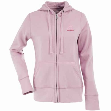 Chicago Bears Womens Zip Front Hoody Sweatshirt (Color: Pink)