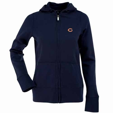 Chicago Bears Womens Zip Front Hoody Sweatshirt (Team Color: Navy)