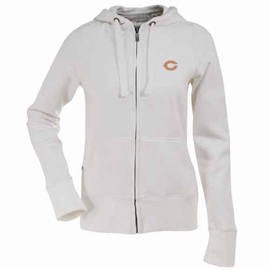 Chicago Bears Womens Zip Front Hoody Sweatshirt (Color: White)