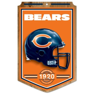 Chicago Bears Wood Sign