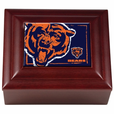 Chicago Bears Wooden Keepsake Box