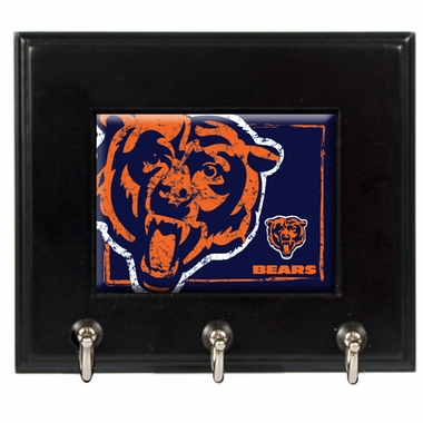 Chicago Bears Wooden Keyhook Rack