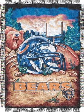 Chicago Bears Woven Tapestry Blanket
