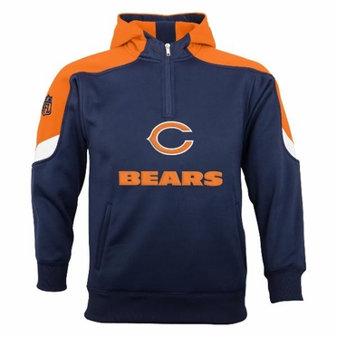 Chicago Bears YOUTH Kick Off 1/4 Zip Performance Hoody