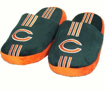 Chicago Bears YOUTH Team Stripe Slide Slippers - Medium