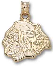 Chicago Blackhawks 10K Gold Pendant