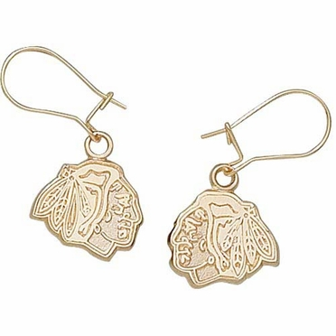Chicago Blackhawks 10K Gold Post or Dangle Earrings