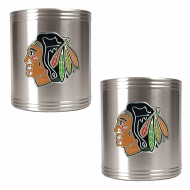 Chicago Blackhawks 2 Can Holder Set