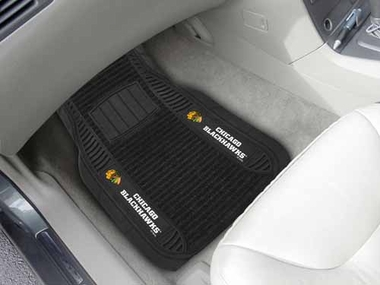 Chicago Blackhawks 2 Piece Heavy Duty DELUXE Vinyl Car Mats