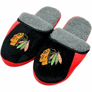 Chicago Blackhawks 2012 Sherpa Slide Slippers