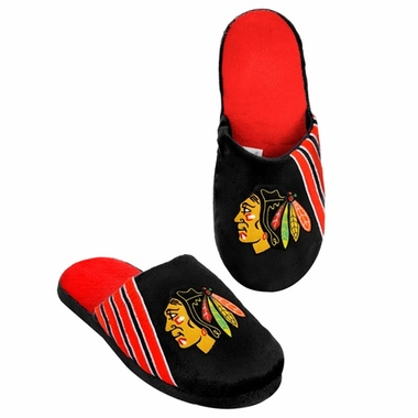 Chicago Blackhawks 2012 Team Stripe Logo Slippers
