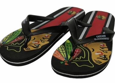 Chicago Blackhawks 2012 Unisex Big Logo Flip Flops