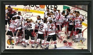 Chicago Blackhawks 2013 Stanley Cup Champions Celebration Signature Rink