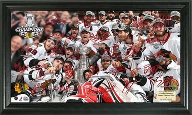 Chicago Blackhawks 2013 Stanley Cup Champions Signature Rink