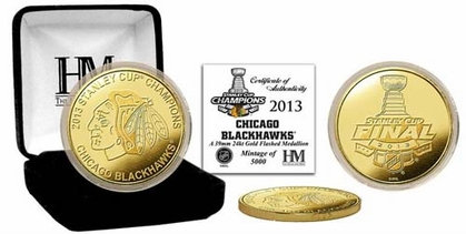 Chicago Blackhawks 2013 Stanley Cup Champs Gold Coin