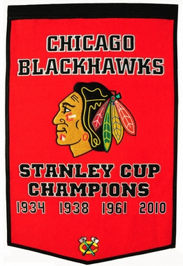 "Chicago Blackhawks 24""x36"" Dynasty Wool Banner"