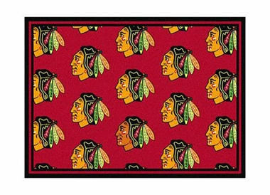 "Chicago Blackhawks 3'10"" x 5'4"" Premium Pattern Rug"