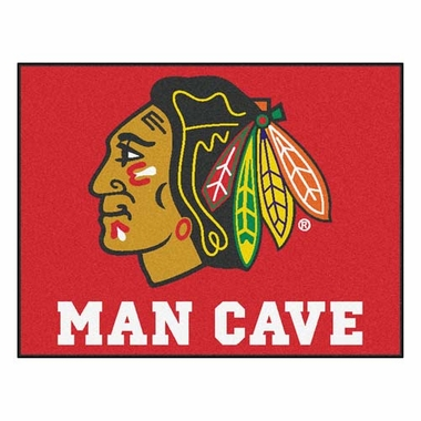 Chicago Blackhawks 34 x 45 Man Cave Rug