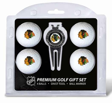 Chicago Blackhawks 4 Ball and Tool Gift Set
