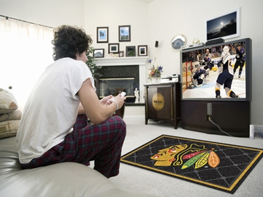 Chicago Blackhawks 4 Foot x 6 Foot Rug