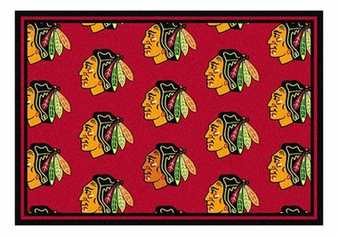 "Chicago Blackhawks 5'4"" x 7'8"" Premium Pattern Rug"