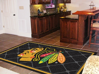 Chicago Blackhawks 5 Foot x 8 Foot Rug