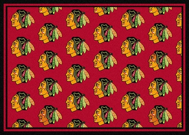 "Chicago Blackhawks 7'8 x 10'9"" Premium Pattern Rug"