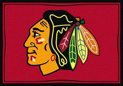 "Chicago Blackhawks 7'8"" x 10'9"" Premium Spirit Rug"