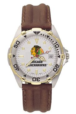 Chicago Blackhawks All Star Mens (Leather Band) Watch