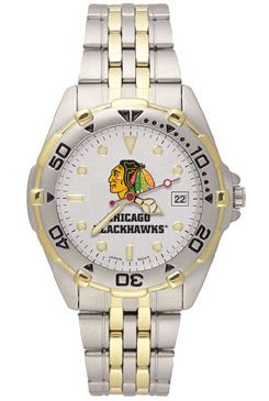 Chicago Blackhawks All Star Mens (Steel Band) Watch