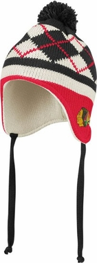 Chicago Blackhawks Argyle Tassel Knit Hat