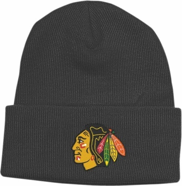 Chicago Blackhawks Basic Logo Cuffed Knit Hat