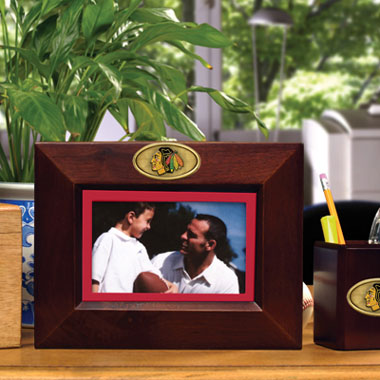 Chicago Blackhawks BROWN Landscape Picture Frame