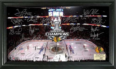 Chicago Blackhawks Chicago Blackhawks 2010 Stanley Cup Champs Signature Rink