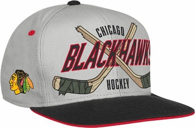 Chicago Blackhawks Cross Sticks Snap back Hat