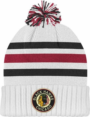 Chicago Blackhawks Cuffed Knit Pom Hat