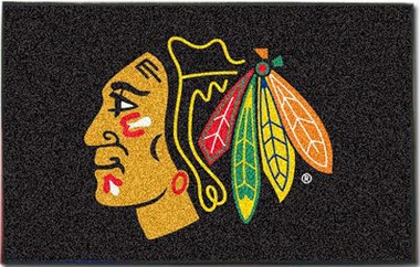 Chicago Blackhawks Economy 5 Foot x 8 Foot Mat