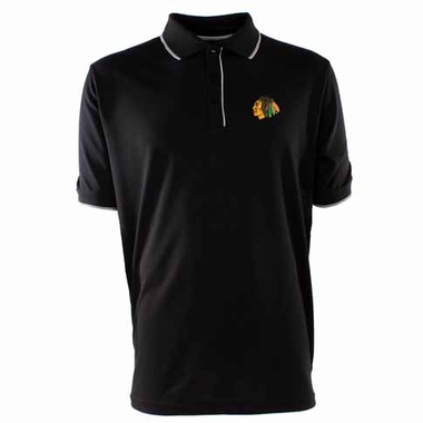 Chicago Blackhawks Mens Elite Polo Shirt (Team Color: Black)