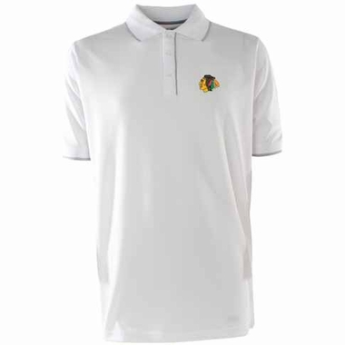 Chicago Blackhawks Mens Elite Polo Shirt (Color: White)